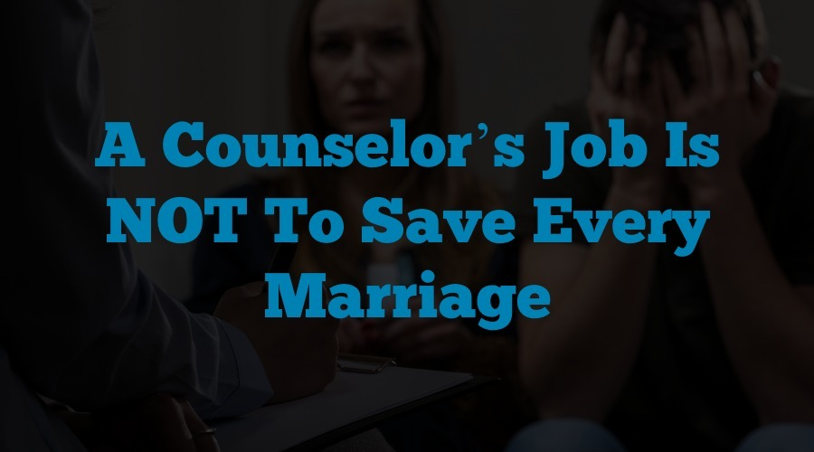 When marriage counseling does not work