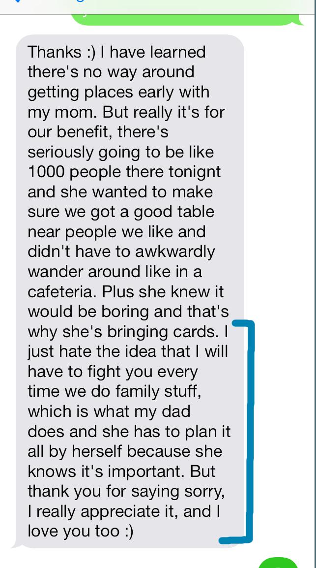 Thanksgiving Dinner Problem wife's response